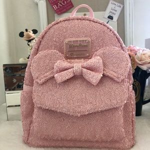 22a4589fca0 Loungefly Bags - Disney Parks Millennial pink backpack